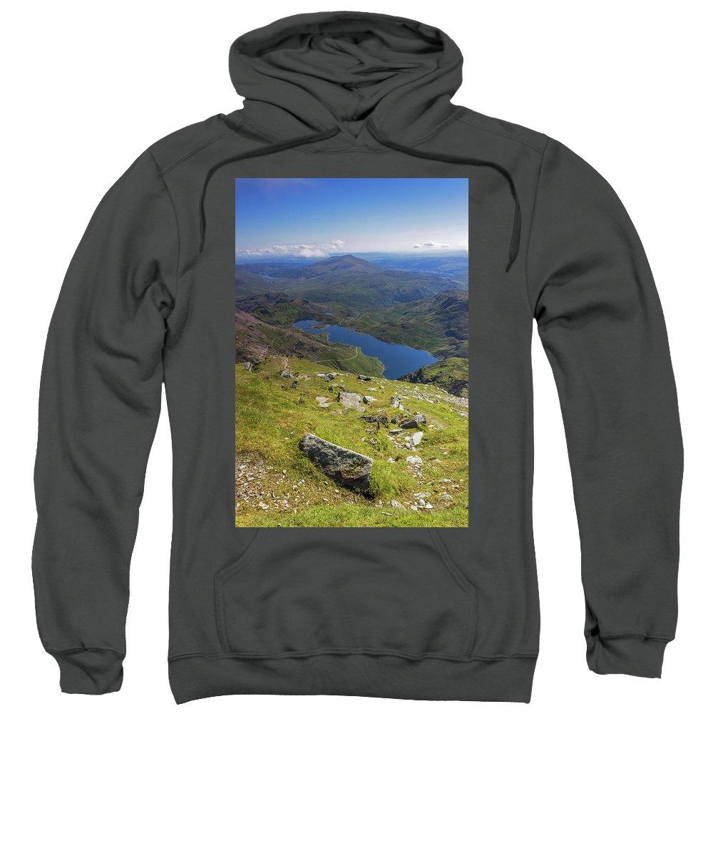 Snowdonia Sweatshirt featuring the photograph Snowdon View by Mitchell AK