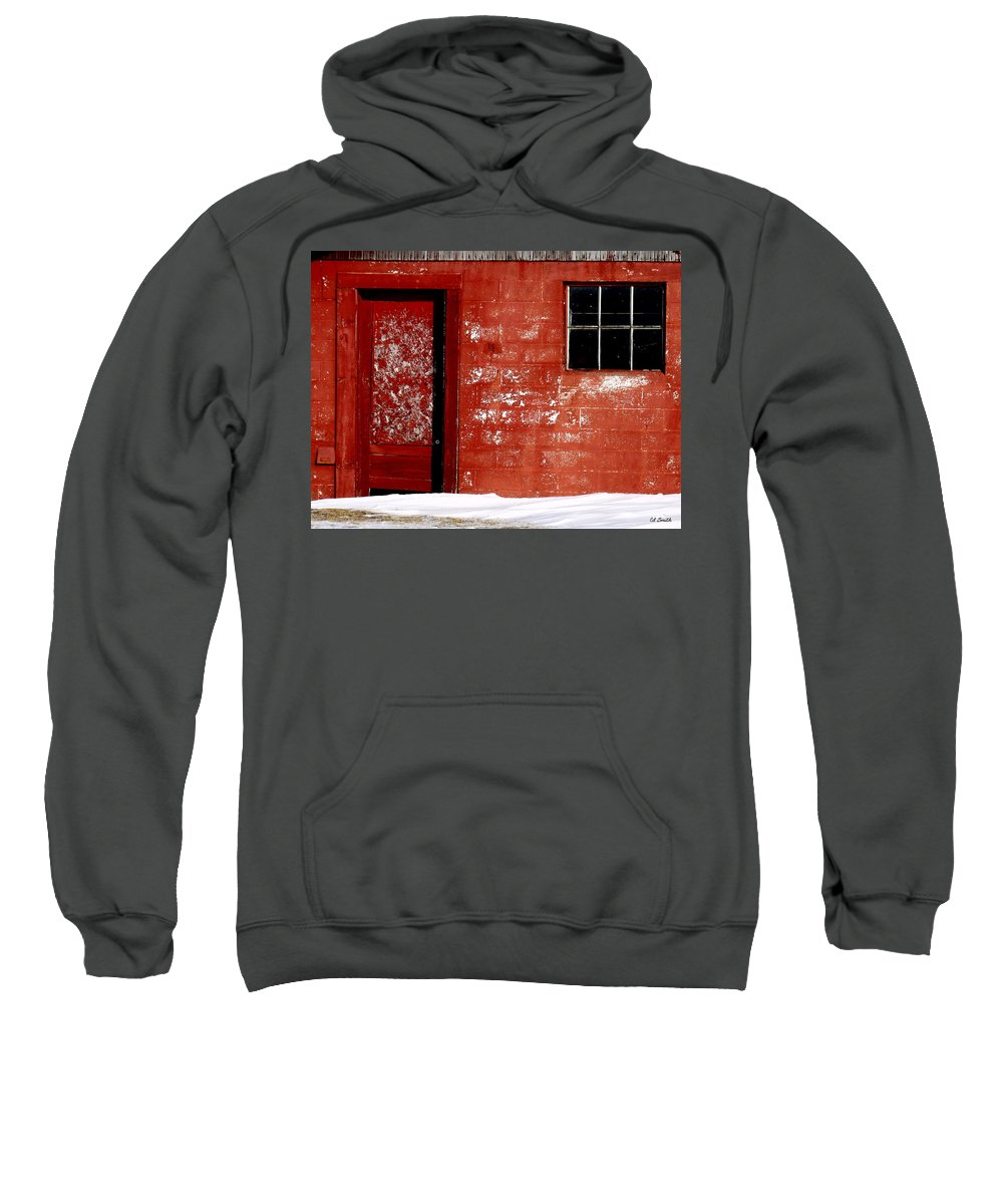 Snowed In Sweatshirt featuring the photograph Snowed In by Ed Smith