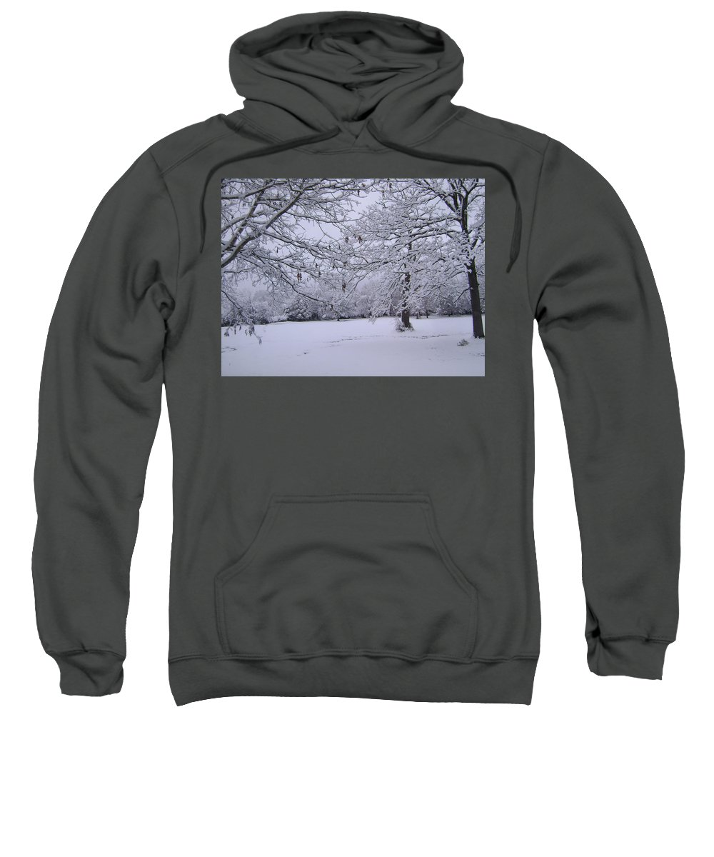 Landscape Sweatshirt featuring the photograph Snowy Branches by Deborah Reed