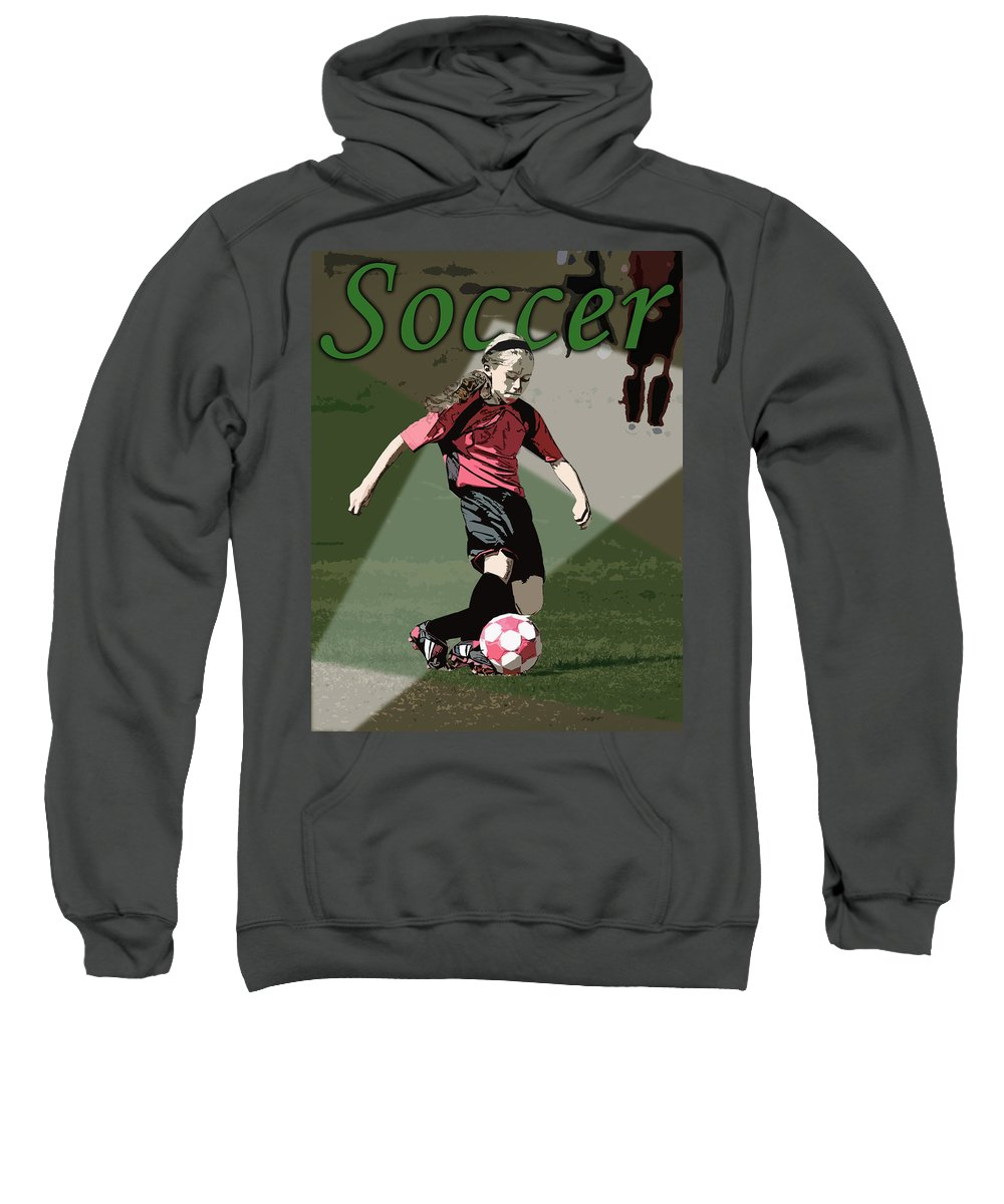 Soccer Sweatshirt featuring the photograph Soccer Style by Kelley King