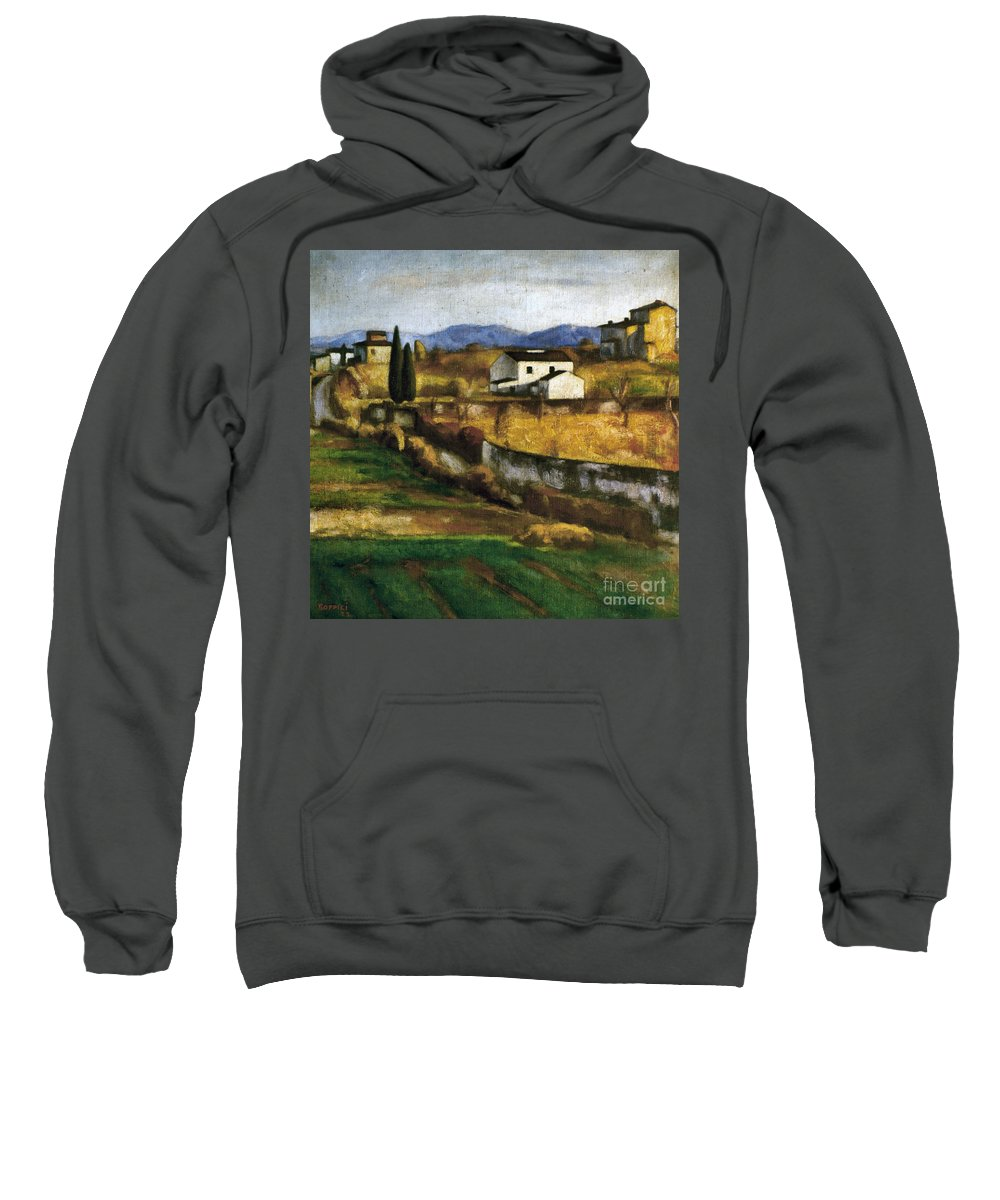 1922 Sweatshirt featuring the photograph Soffici: Hill, 1922 by Granger