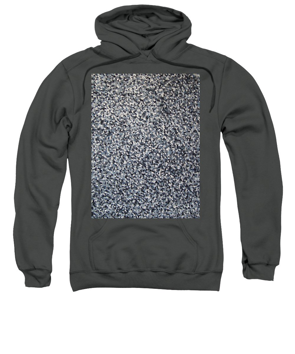 Abstract Sweatshirt featuring the painting Soft Grey Scale by Dean Triolo