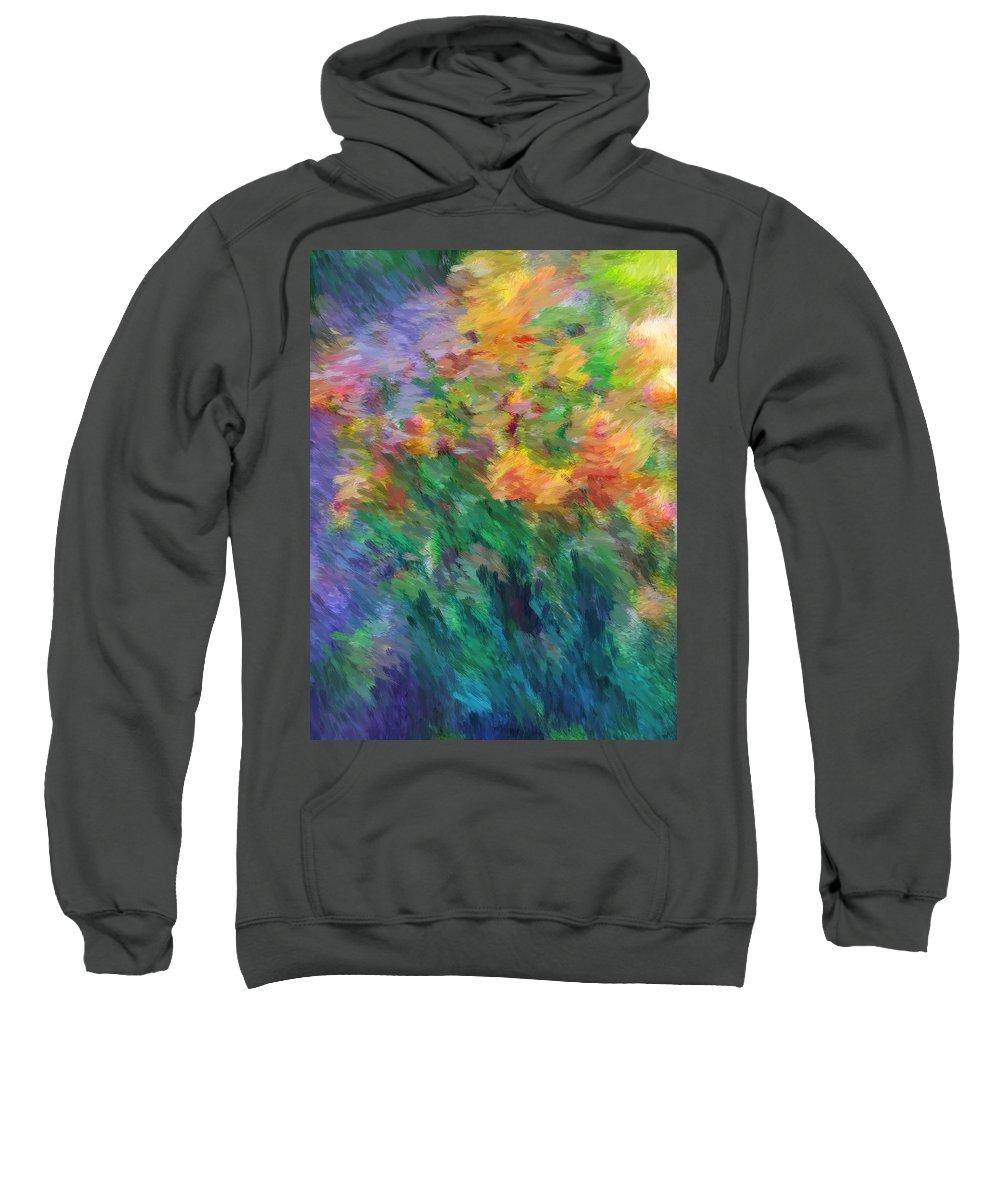 Iris Sweatshirt featuring the photograph Soft Iris 2 by Don Zawadiwsky