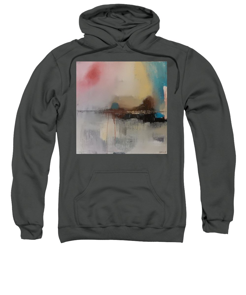 Landscape Abstract Contemporary Modern Soft Colours Art Hildur Hauks Sweatshirt featuring the painting Soft Joy by Hildur Hauksdottir