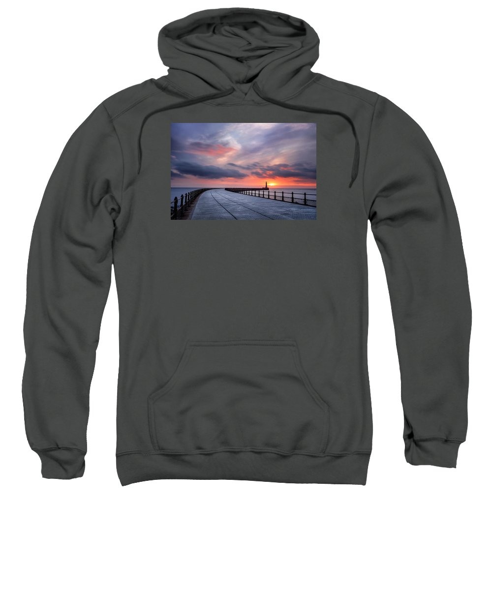 North Sea Sweatshirt featuring the photograph Soft Morning Light by Brian Smith