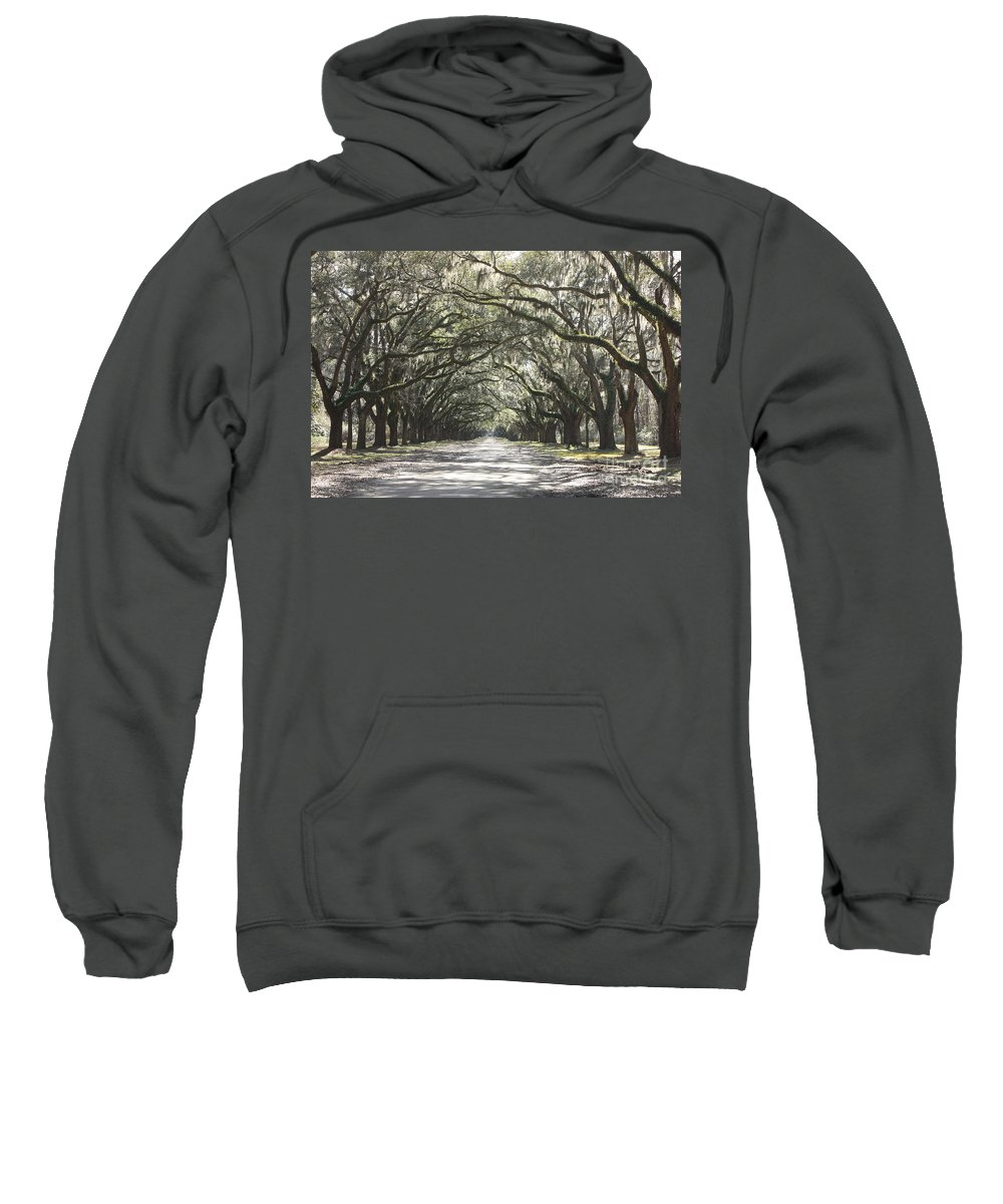 Live Oaks Sweatshirt featuring the photograph Soft Southern Day by Carol Groenen