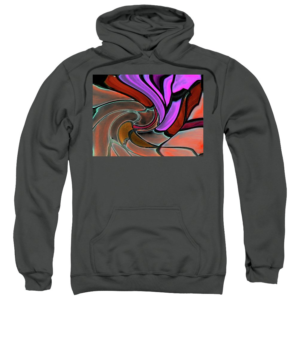 Abstract Sweatshirt featuring the digital art Softening Like Flowers by Lenore Senior