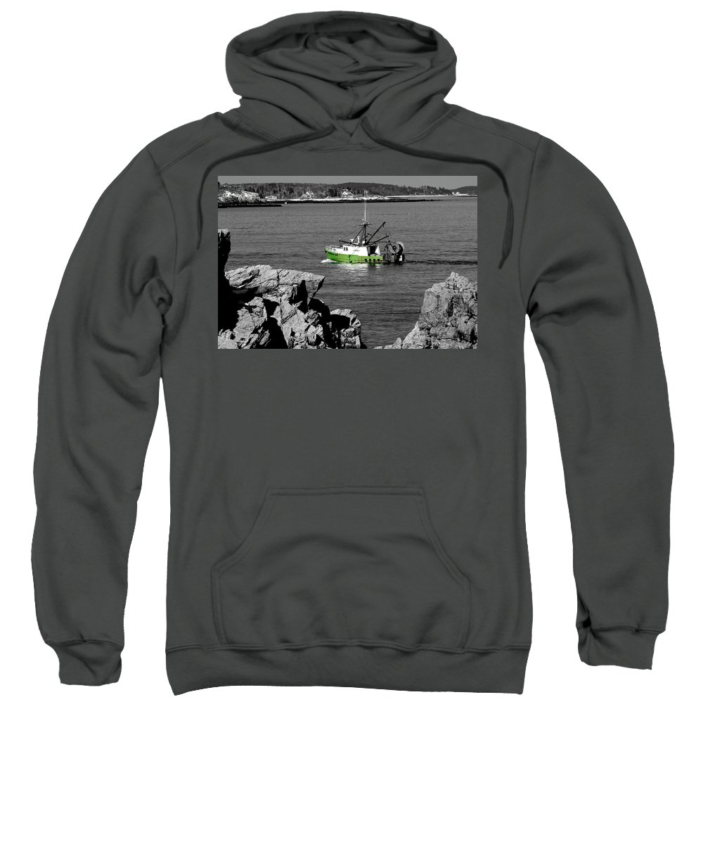 Coast Sweatshirt featuring the photograph Solitude by Greg Fortier