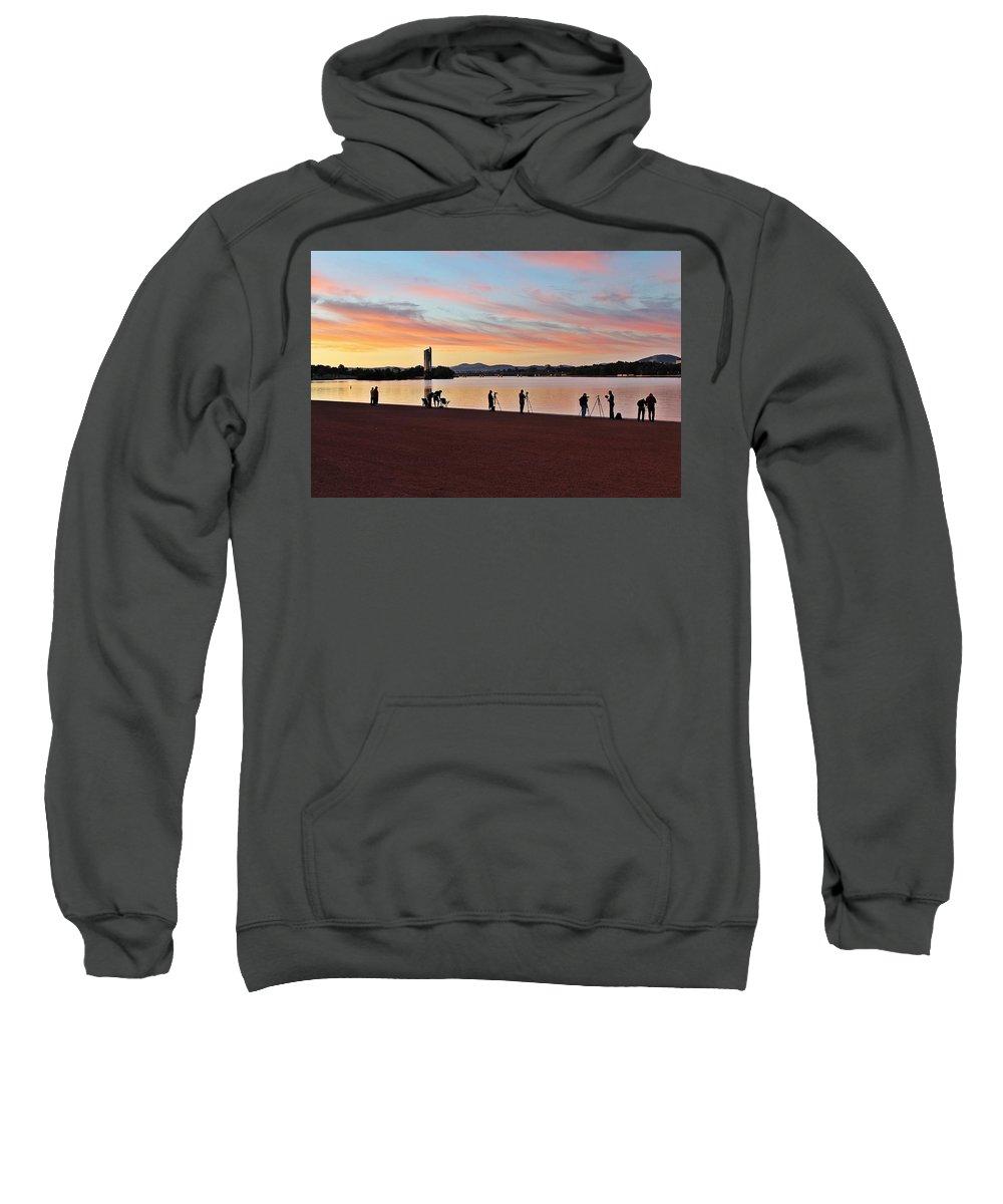 Sunrise Sweatshirt featuring the photograph Something Is Happening by Anthony Croke
