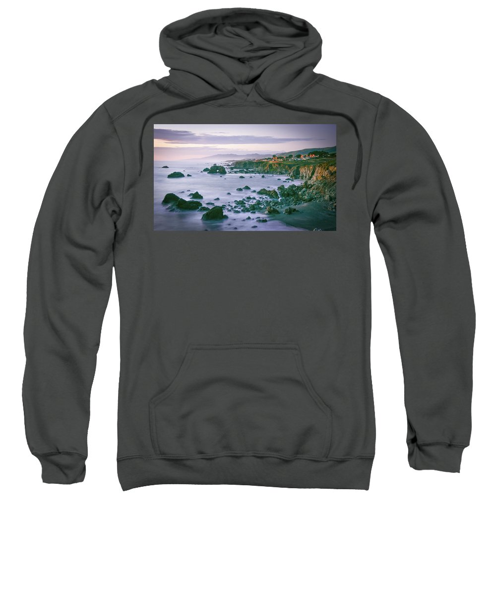 Arch Sweatshirt featuring the photograph Sonoma Coast Shoreline by Travis Elder