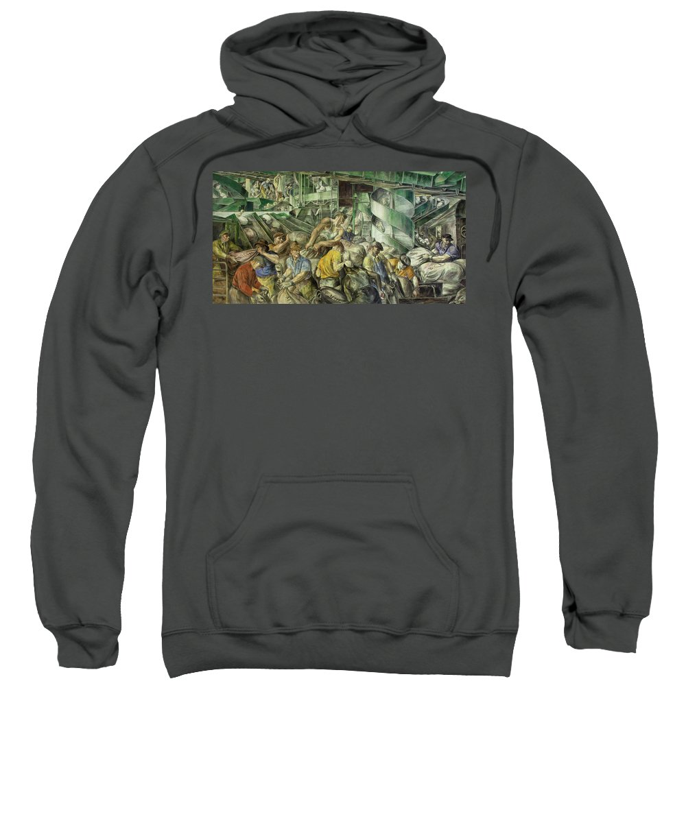 Painting Sweatshirt featuring the painting Sorting The Mail by Mountain Dreams