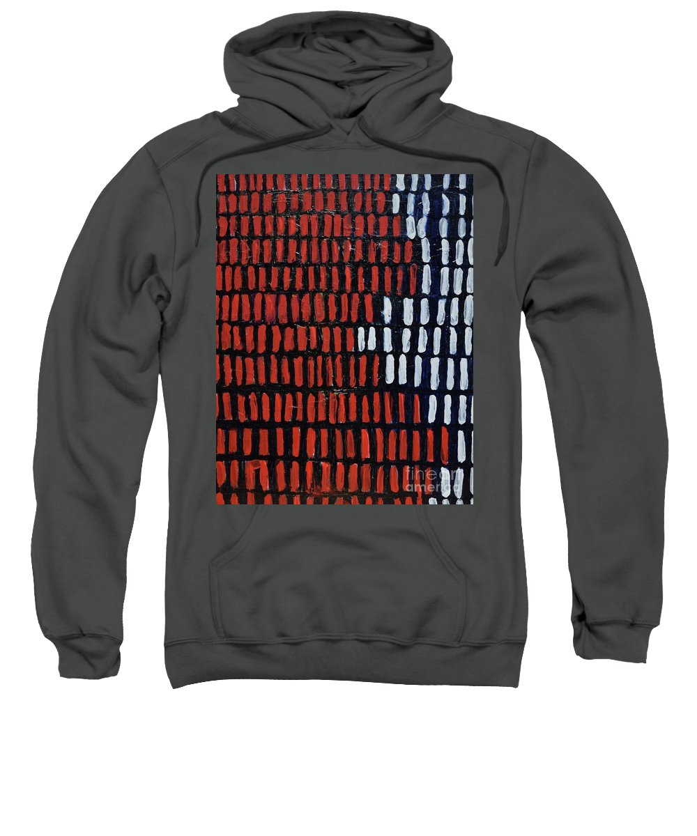 Art Sweatshirt featuring the painting Sound Waves by Aj Watson