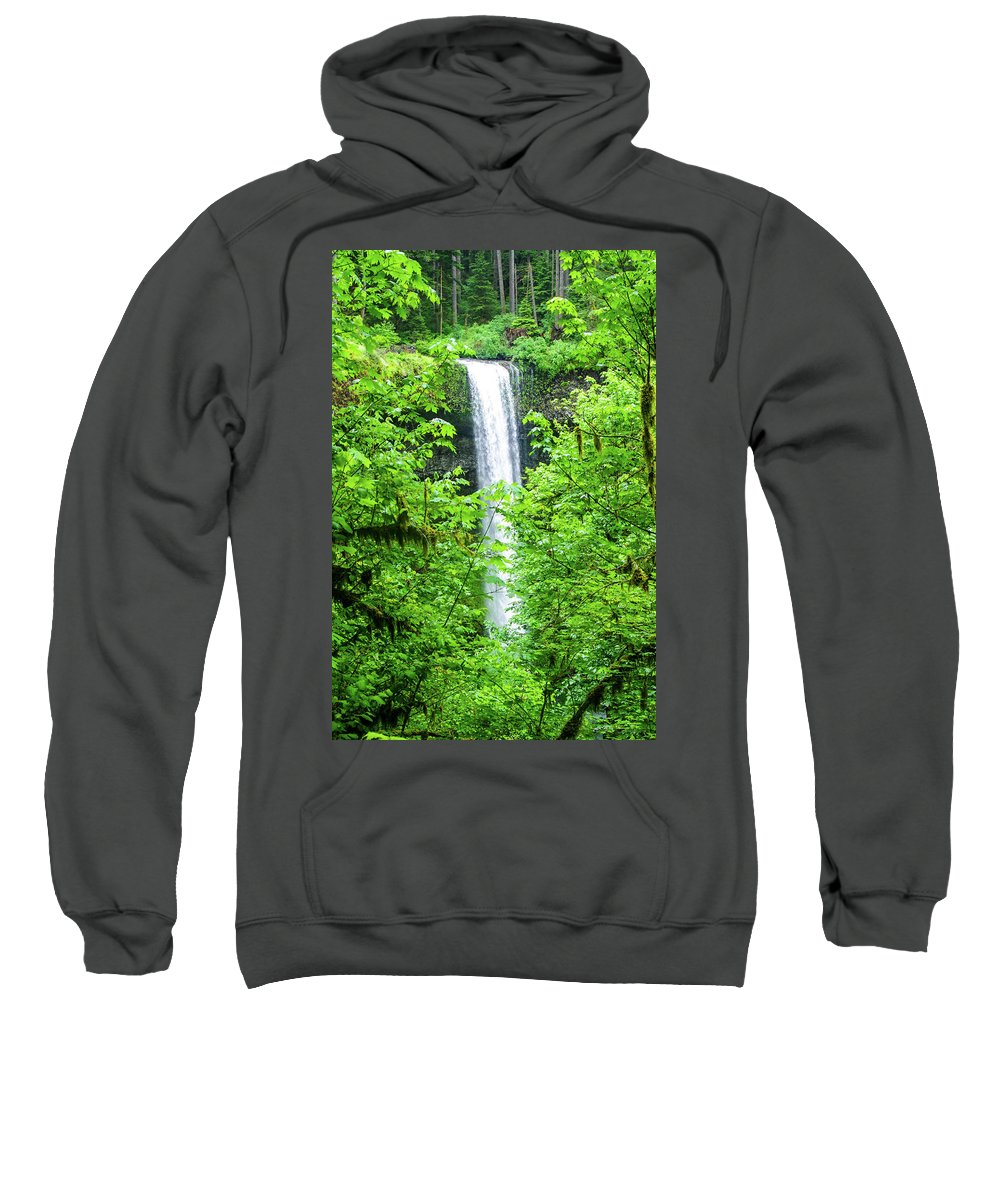 Water Falls Sweatshirt featuring the photograph South Falls by Mike Wheeler
