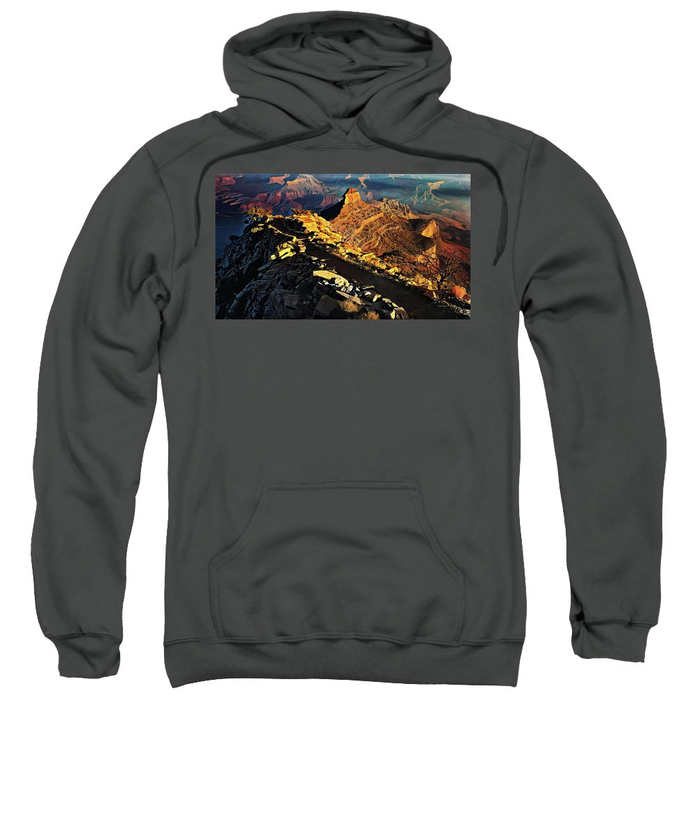 Grand Sweatshirt featuring the painting South Kaibab Trail - Grand Canyon by Russ Harris