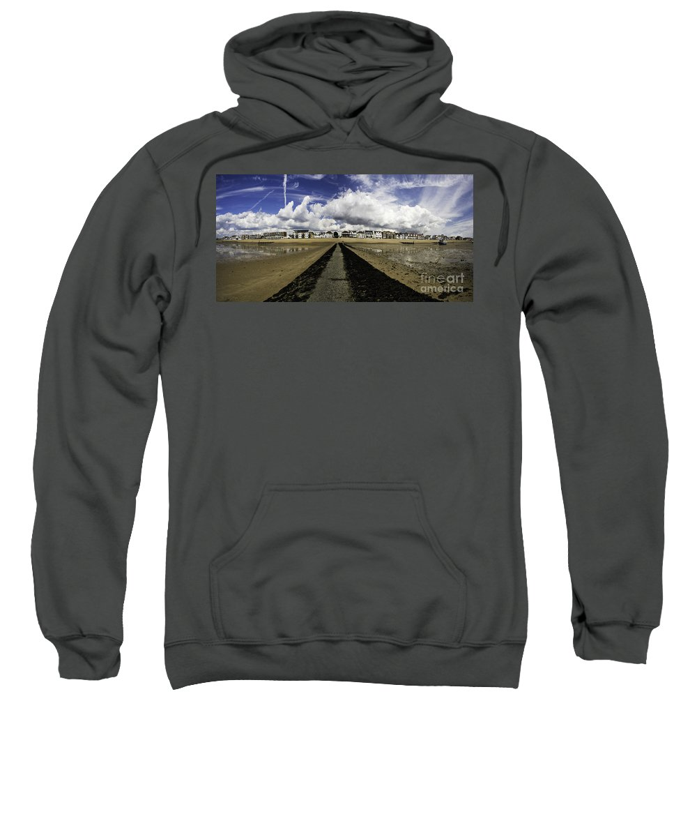 Southend On Sea Sweatshirt featuring the photograph Southend on Sea panorama by Sheila Smart Fine Art Photography
