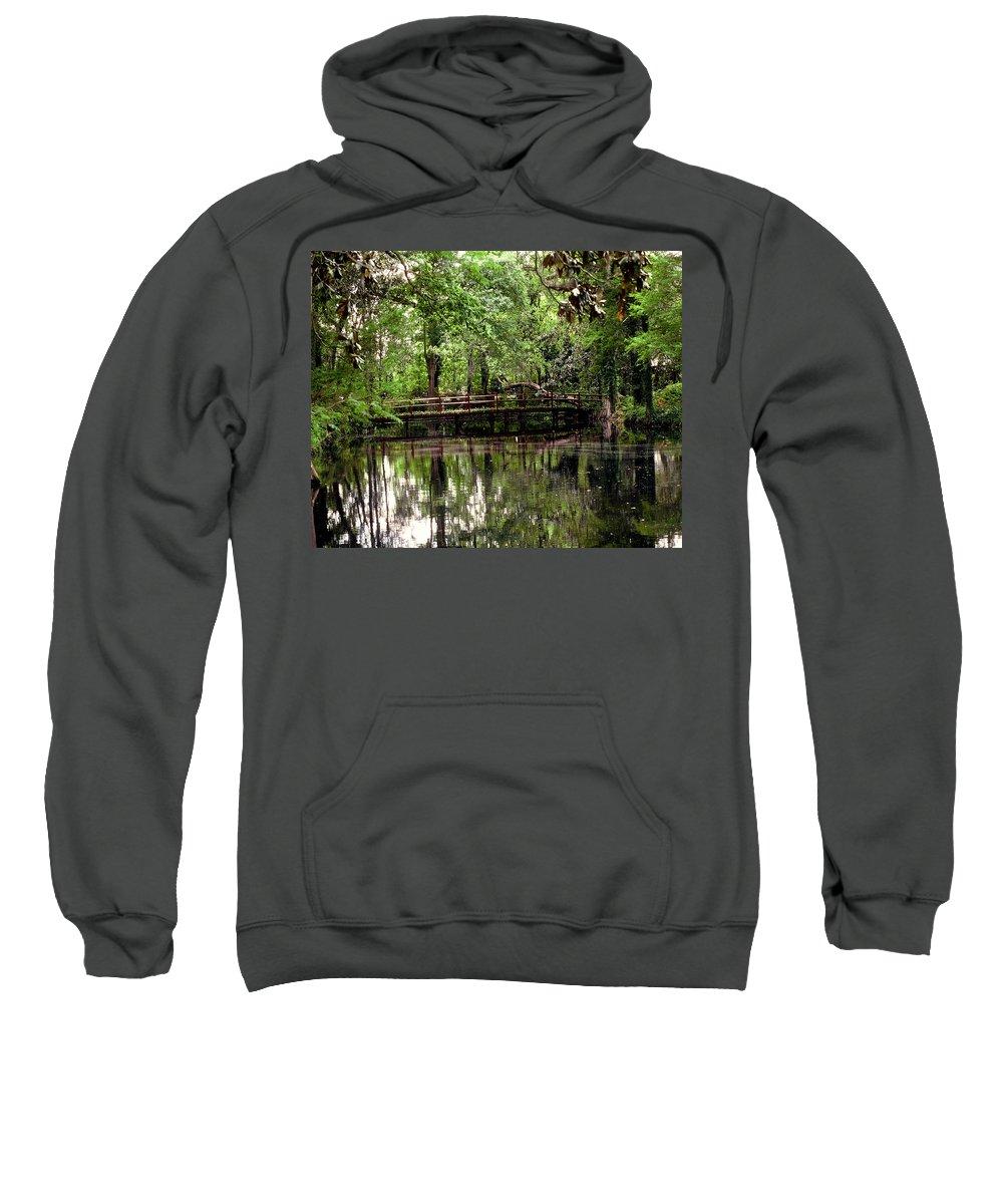 Bridge Sweatshirt featuring the photograph Plantation Living by Gary Wonning