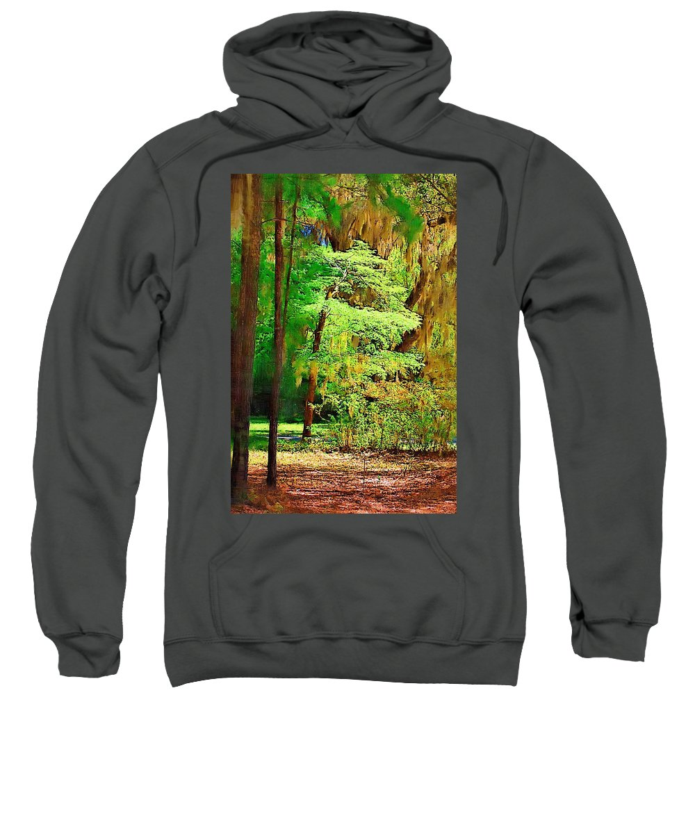 Woods Sweatshirt featuring the photograph Southern Forest by Donna Bentley