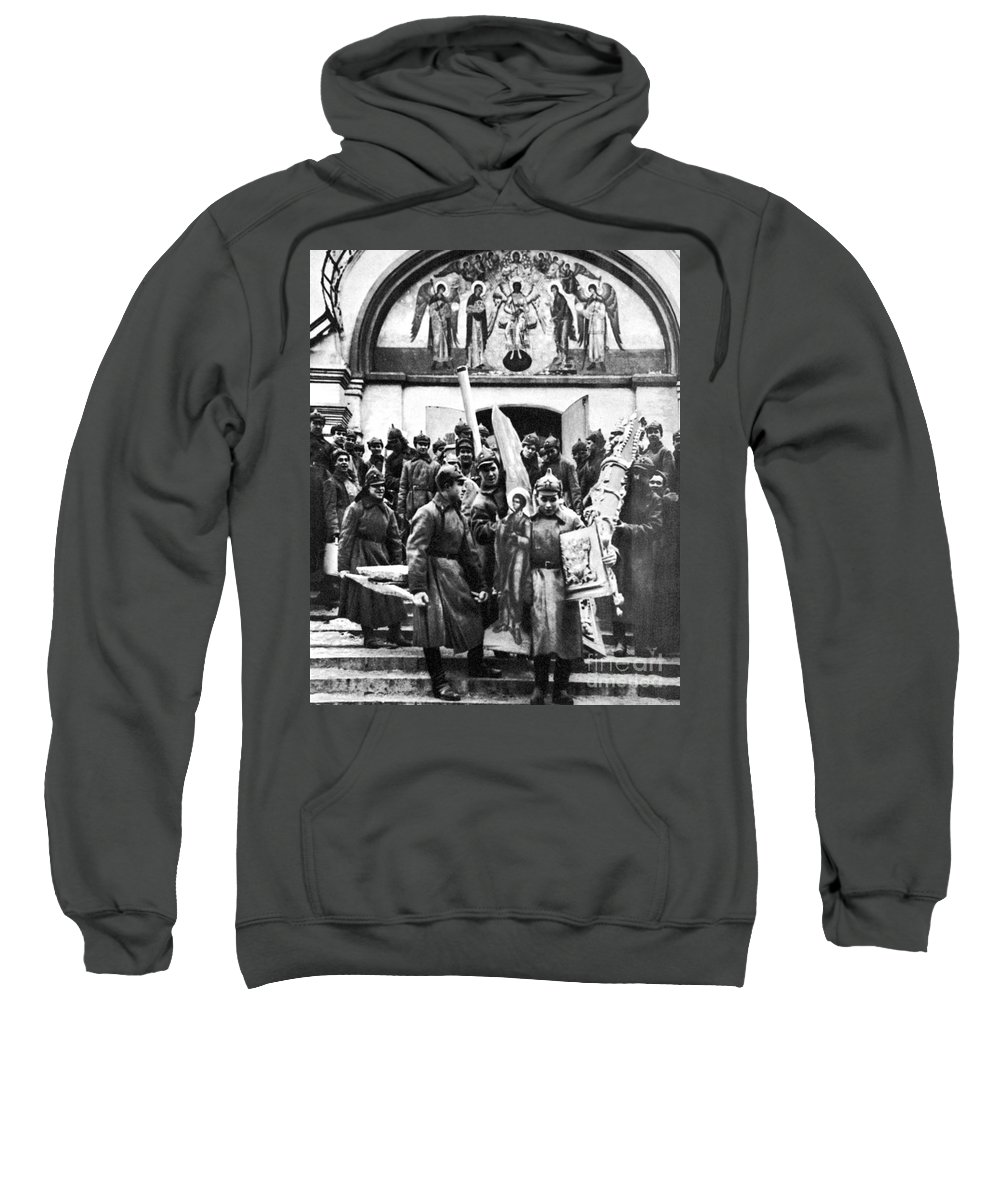 1920s Sweatshirt featuring the photograph Soviet Anti-religion Policy by Granger