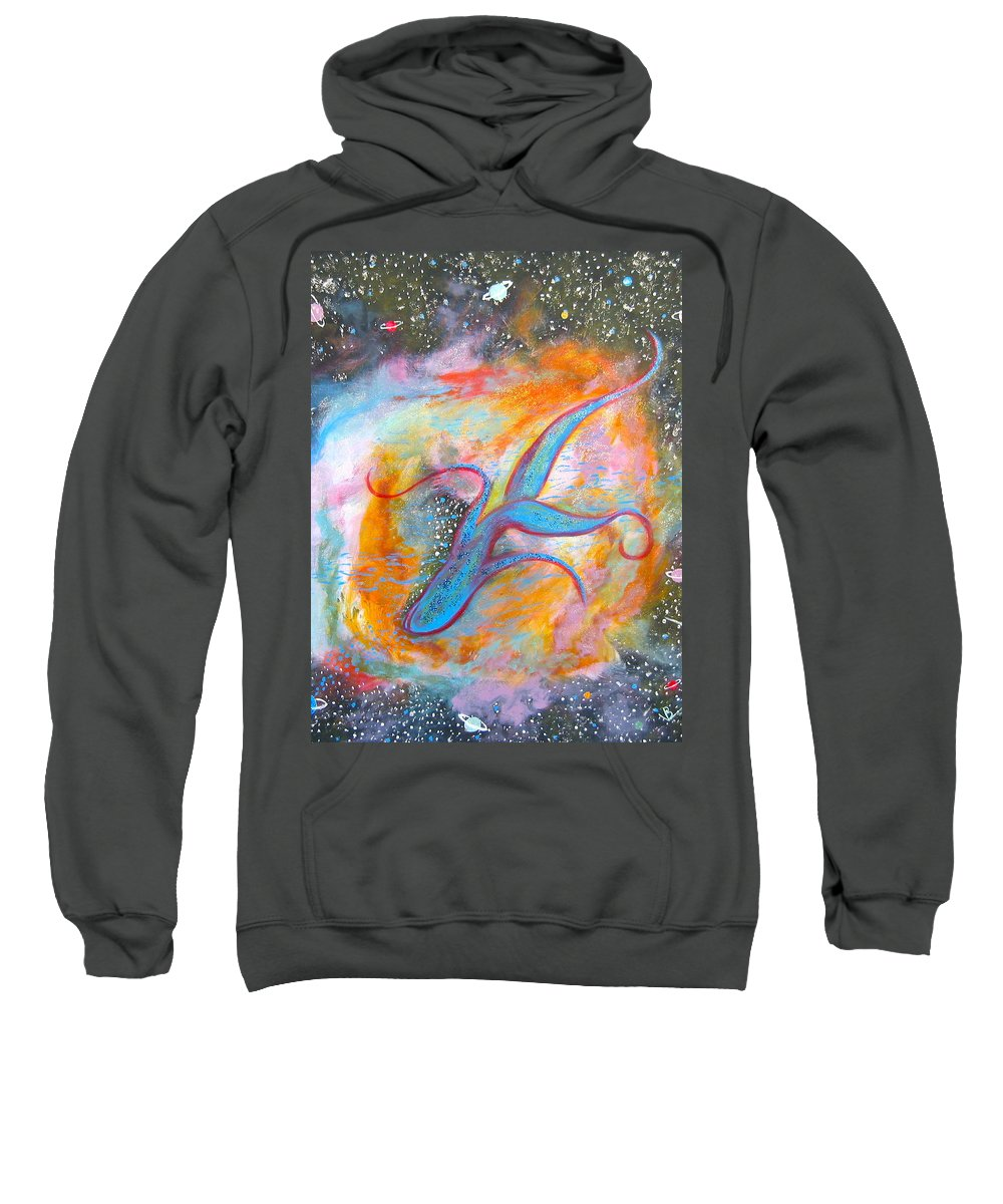 Space Sweatshirt featuring the painting Space Ocean by V Boge