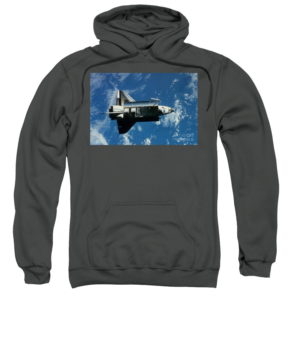 Challenger Sweatshirt featuring the photograph Space Shuttle Challenger by Granger