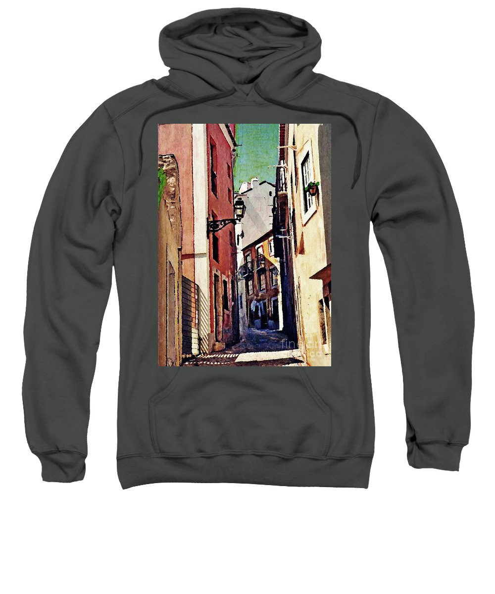 Street Sweatshirt featuring the photograph Spanish Town by Sarah Loft
