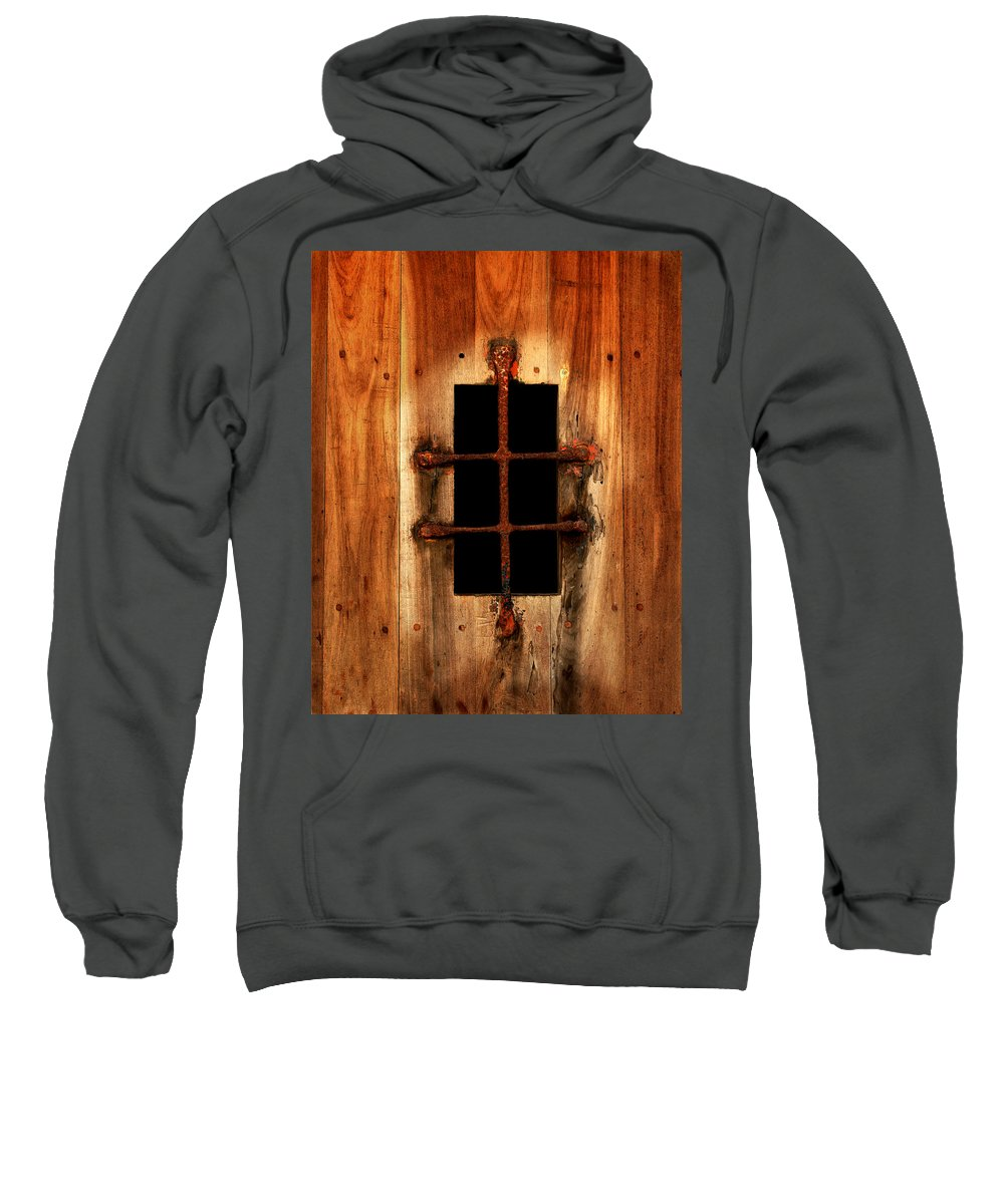 Door Sweatshirt featuring the photograph Spanish Window Detail by Perry Webster