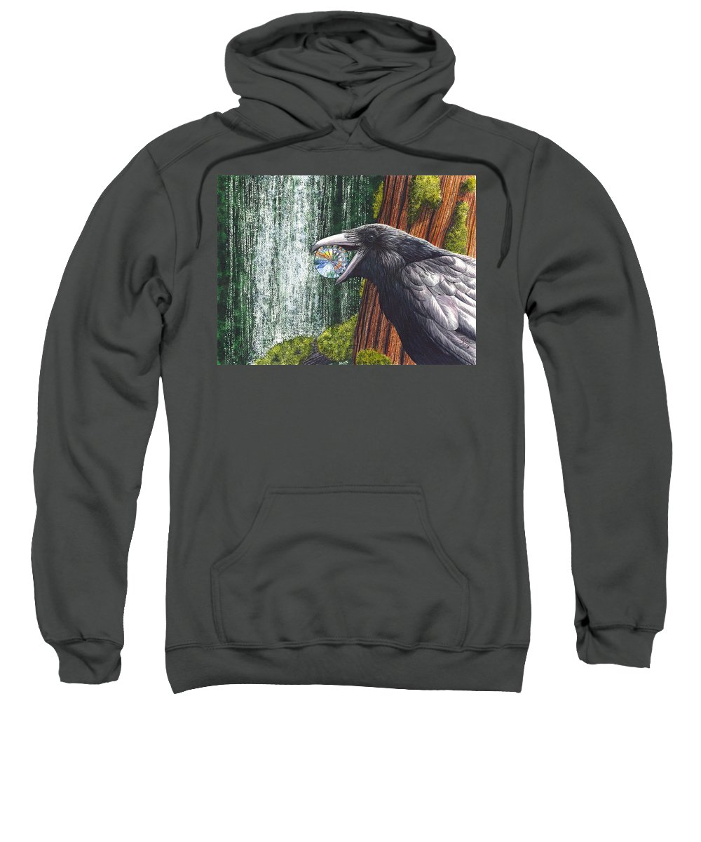 Raven Sweatshirt featuring the painting Sparkle by Catherine G McElroy