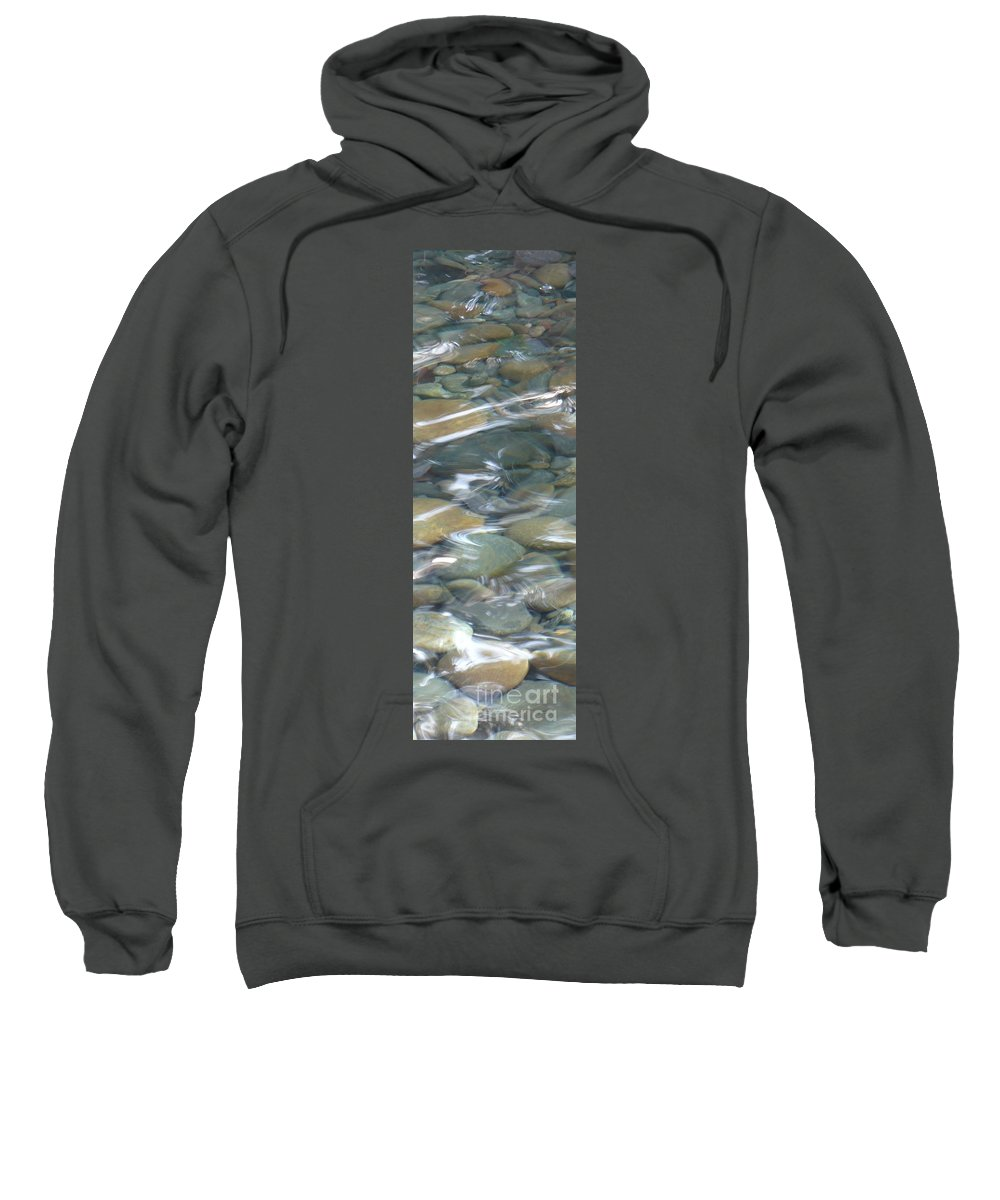 Sparkling Water Sweatshirt featuring the photograph Sparkling Water On Rocky Creek 1 by Carol Groenen