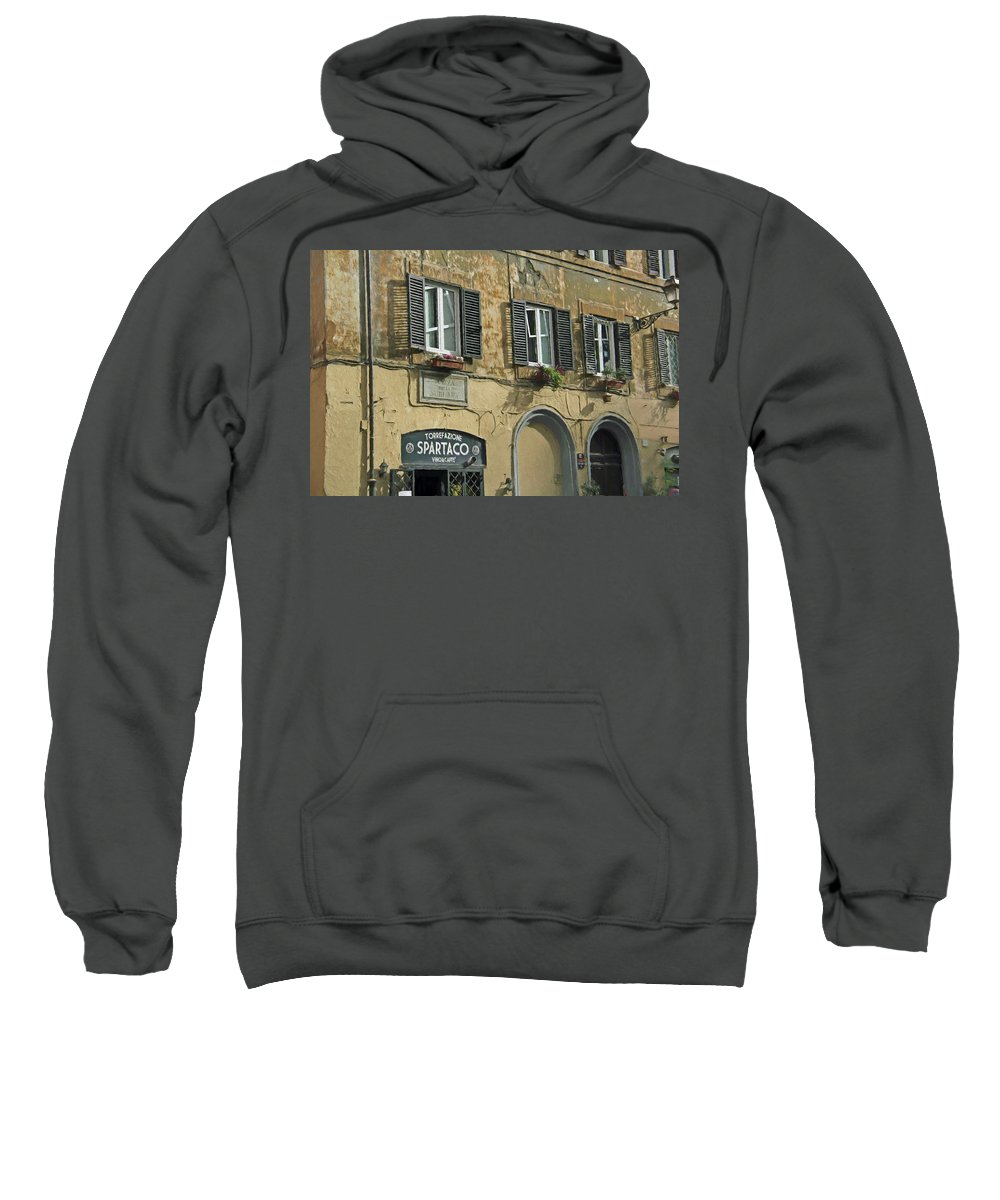 Street Sweatshirt featuring the photograph Spartaco by Denis Brien