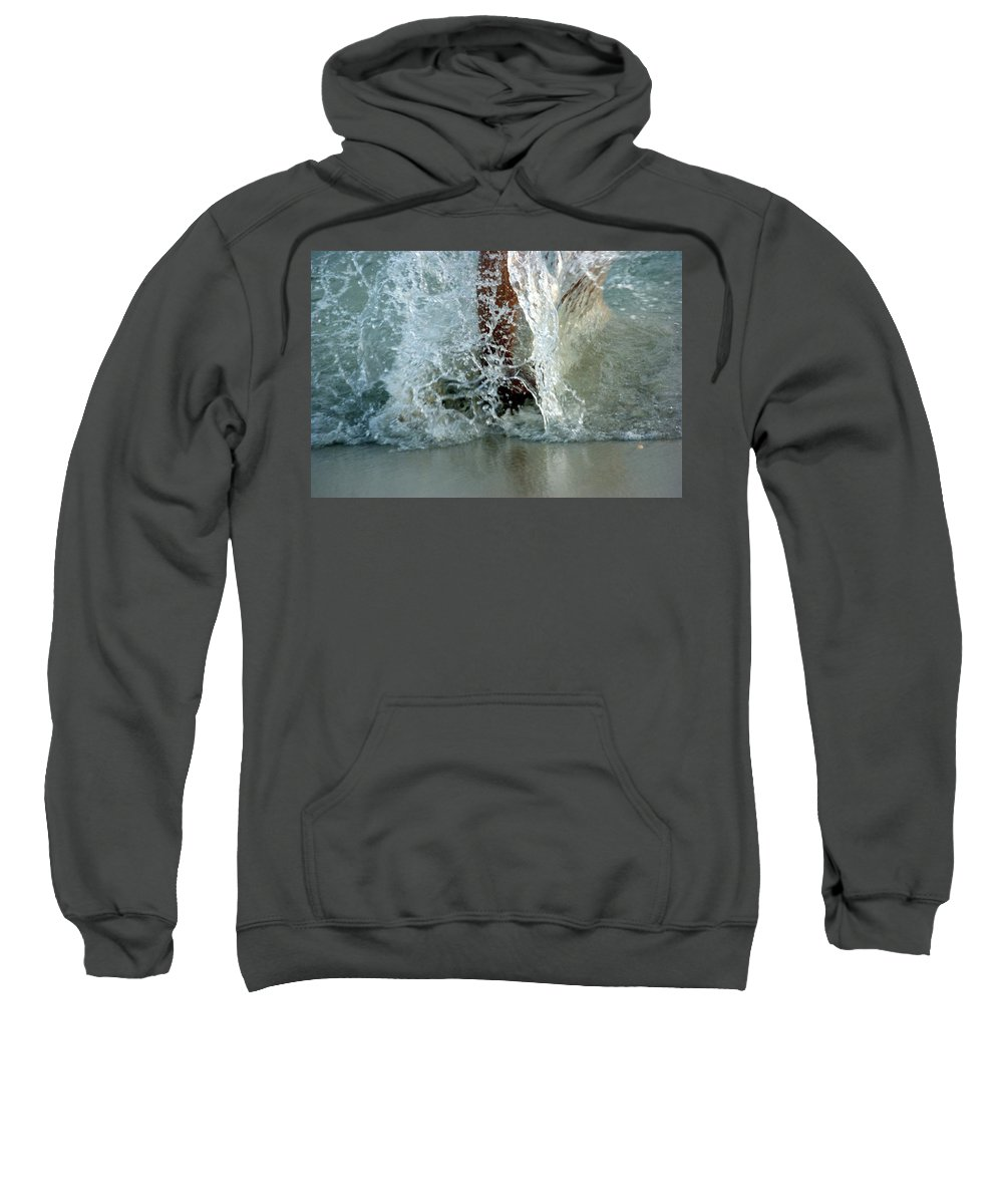 Water Sweatshirt featuring the photograph Spash 2 by Janette Legg