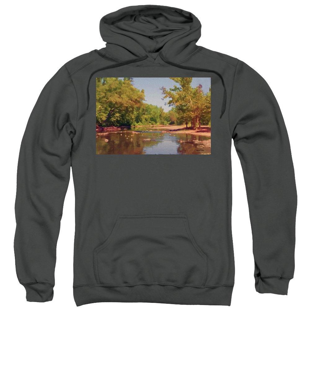 Creek Sweatshirt featuring the painting Spavinaw Creek by Jeffrey Kolker