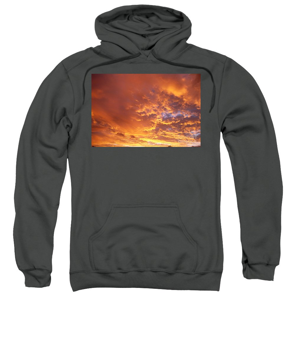 C1740 Sweatshirt featuring the photograph Spectacular Sunrise by Mary Van de Ven - Printscapes
