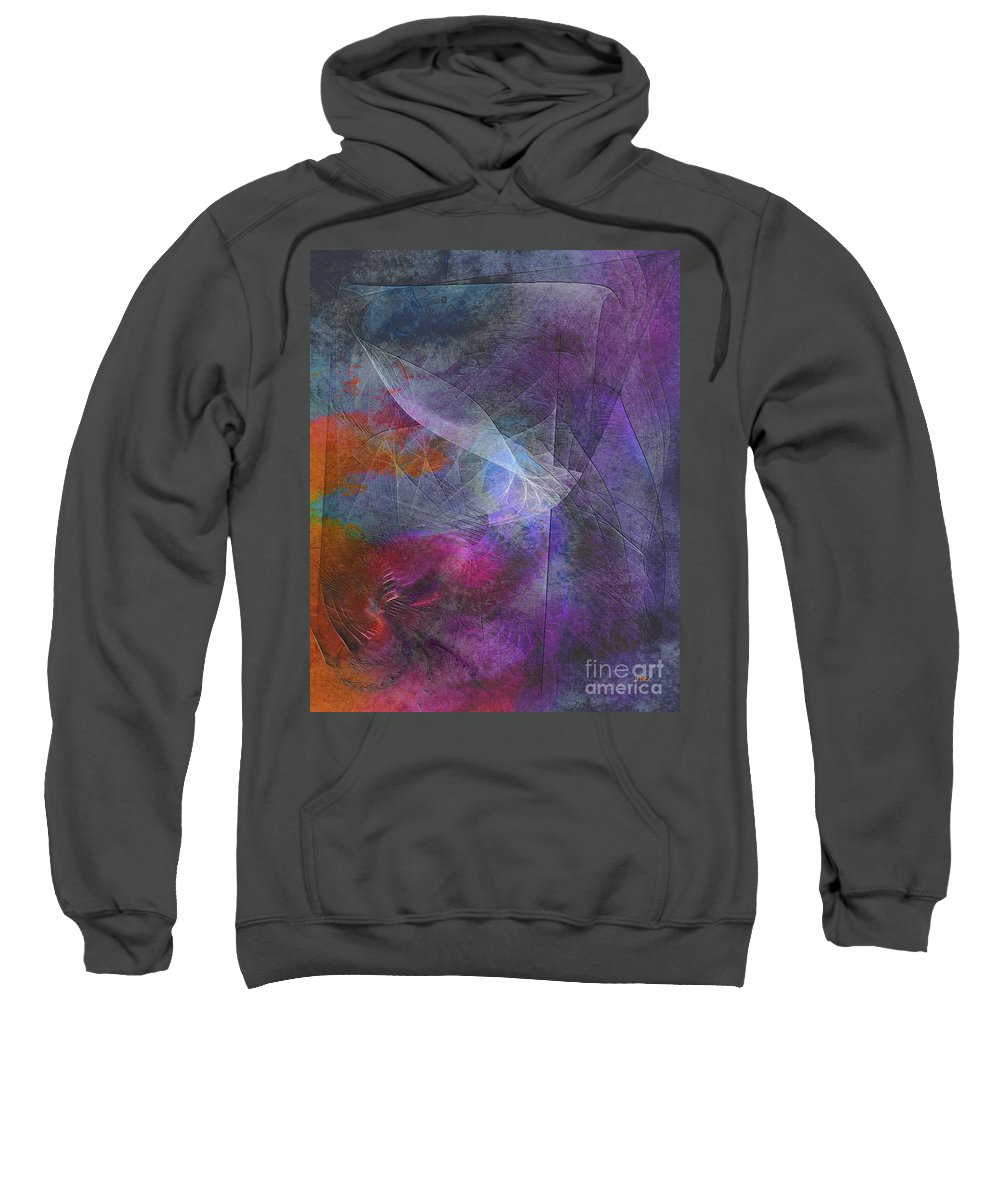 Spectrum Twist Sweatshirt featuring the digital art Spectrum Twist by John Beck