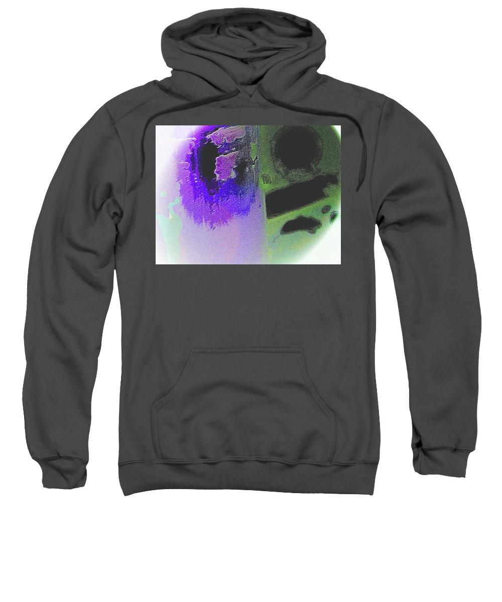 Abstract Sweatshirt featuring the digital art Spheres by Lenore Senior