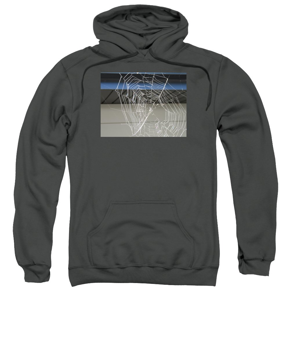 Abstract Sweatshirt featuring the photograph Spider Web by Cindy Kellogg