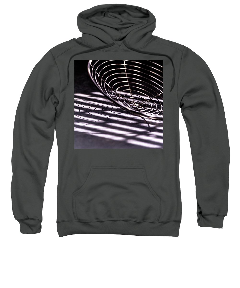Kitchen Sweatshirt featuring the photograph Spiral Shadows by Debbie Stott