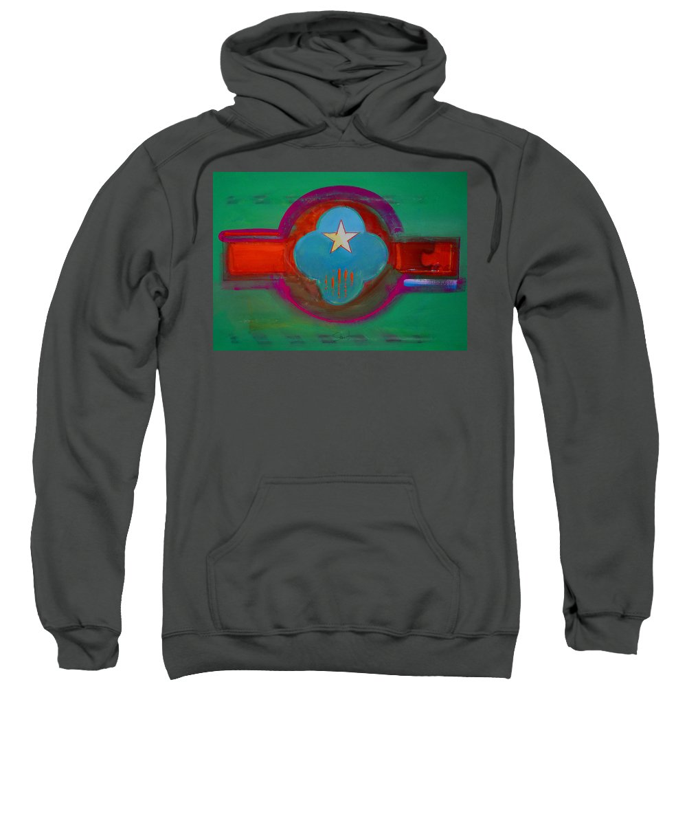 Star Sweatshirt featuring the painting Spiritual Green by Charles Stuart