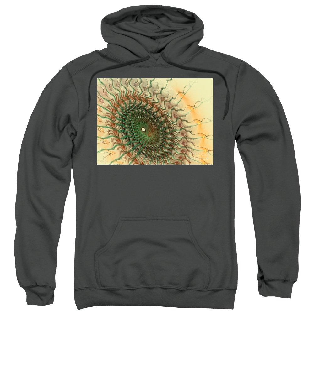 Fractal Sweatshirt featuring the mixed media Spiritual Journey by Deborah Benoit