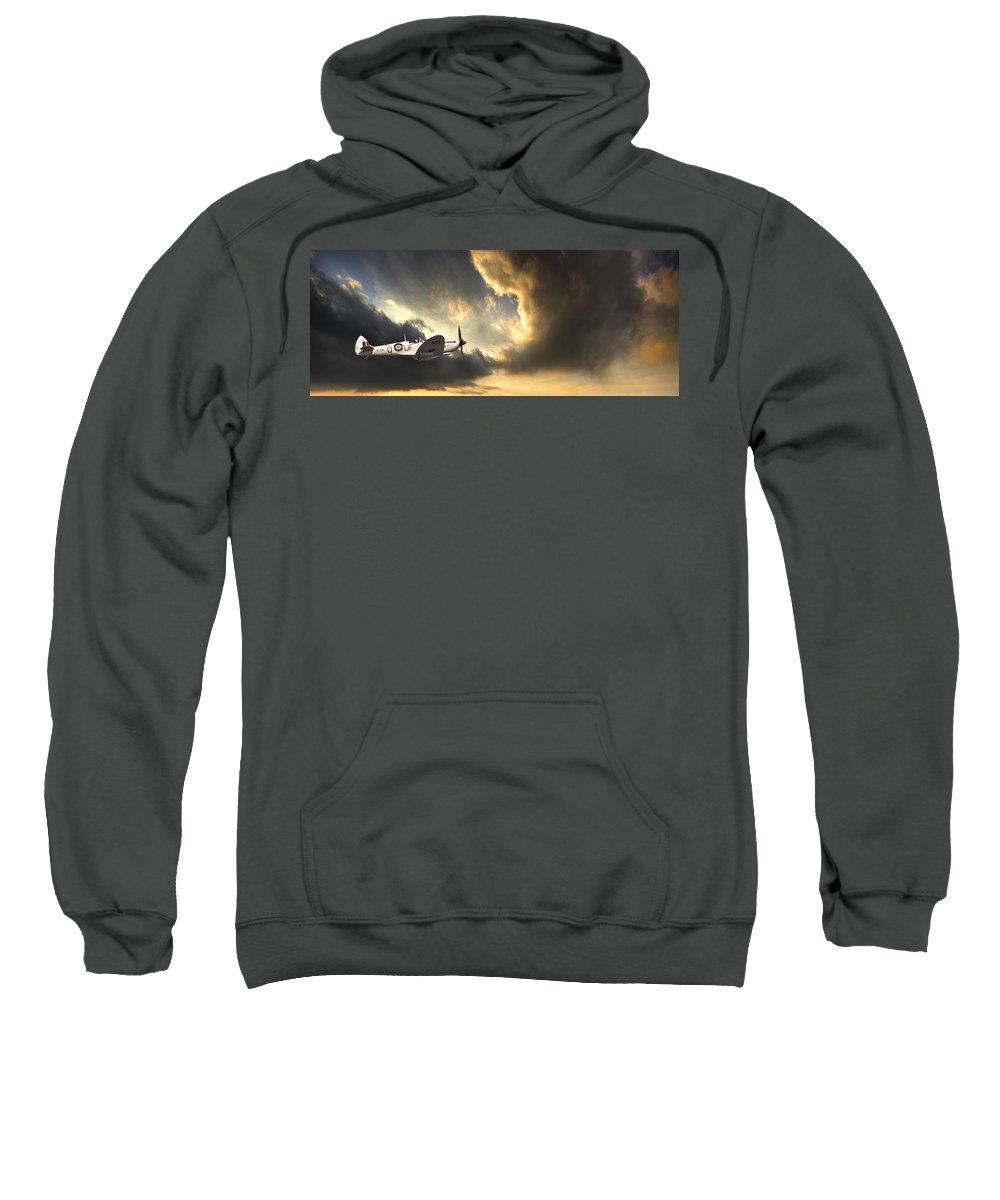 Spitfire Sweatshirt featuring the photograph Spitfire by Meirion Matthias