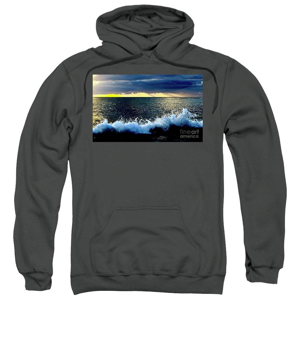 Ocean Sweatshirt featuring the photograph Splash At Sunset by Craig Wood