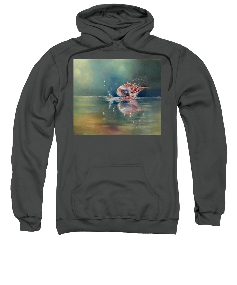 Nature Sweatshirt featuring the painting Splash by Ceci Watson