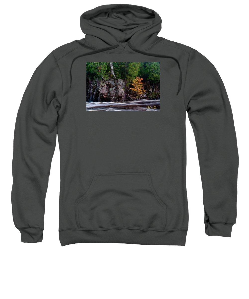 Autumn Sweatshirt featuring the photograph Splash Of Fall Color by Rikk Flohr