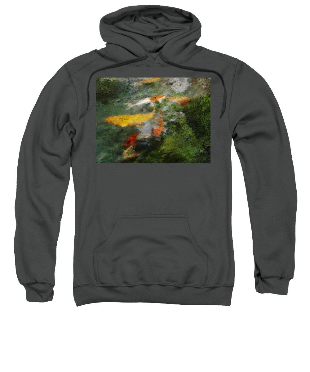 Water Sweatshirt featuring the photograph Splash Of Koi by Jo-Anne Gazo-McKim