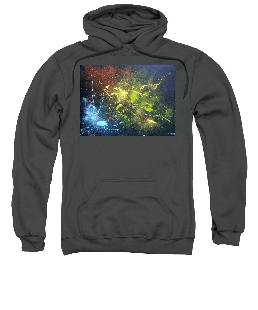 Splash Sweatshirt featuring the painting Splash by Olaoluwa Smith