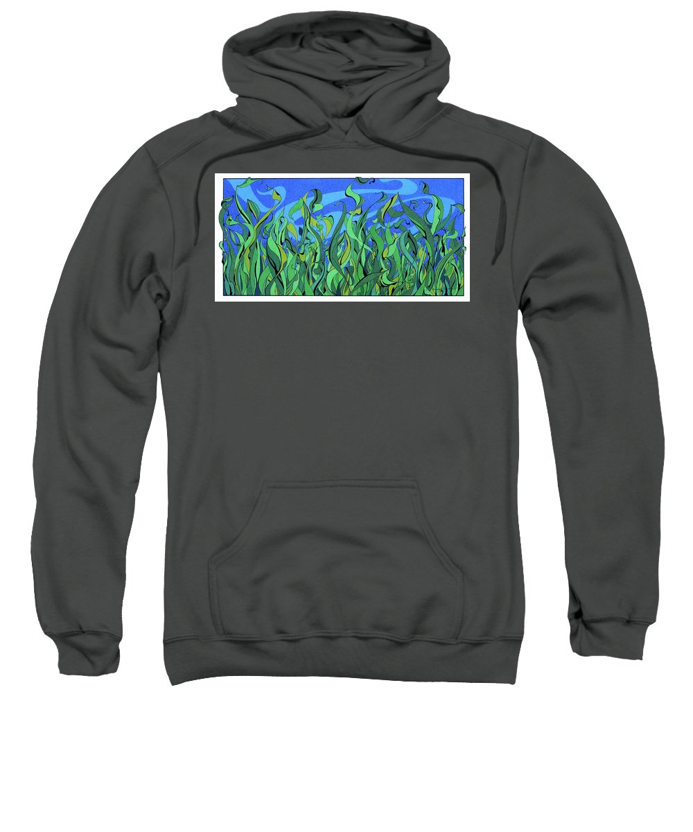 Grass Sweatshirt featuring the drawing Splendor In The Grass by Michele Sleight