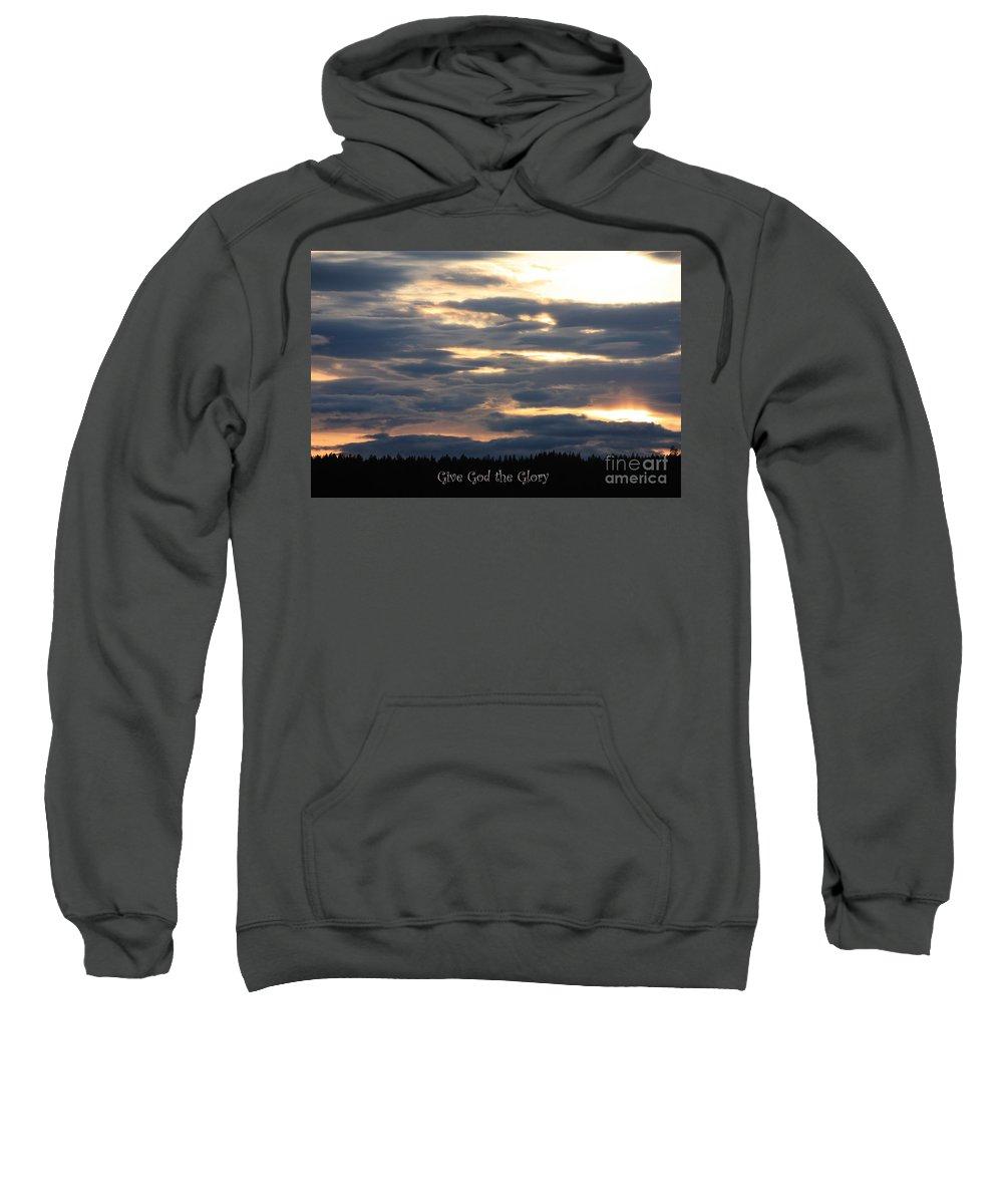 Spokane Sweatshirt featuring the photograph Spokane Sunset - Give God The Glory by Carol Groenen