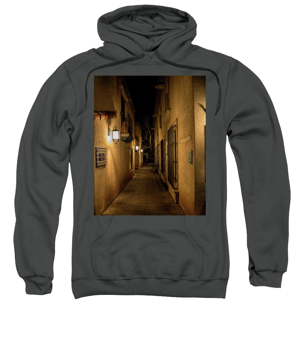 Hallway Sweatshirt featuring the photograph Spooky Hallway by Rural Photographs