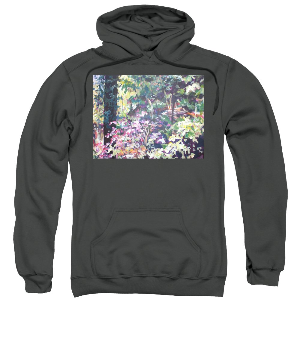 Landscape Sweatshirt featuring the painting Spring At Maymont by Sheila Holland