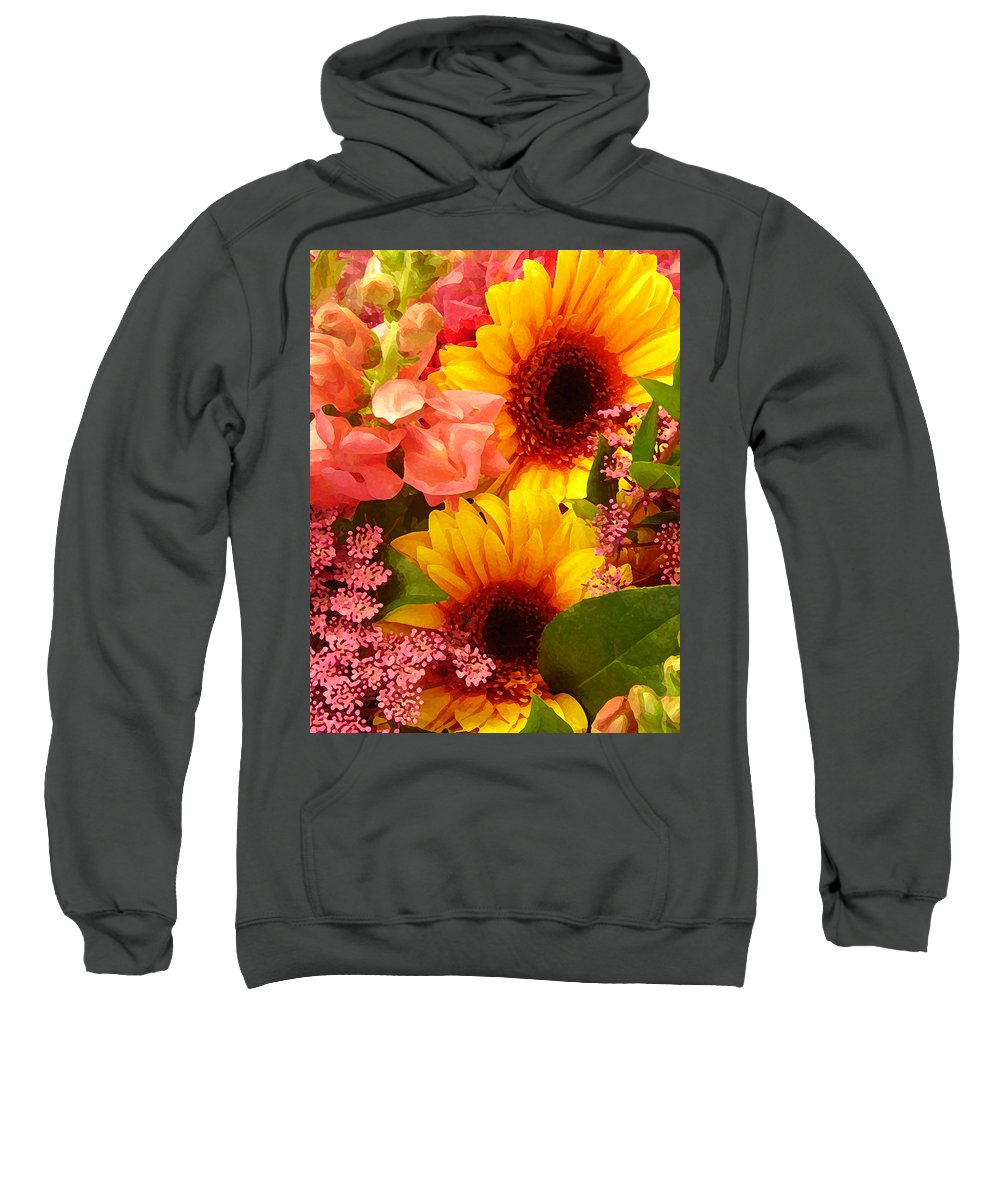 Roses Sweatshirt featuring the photograph Spring Bouquet 1 by Amy Vangsgard