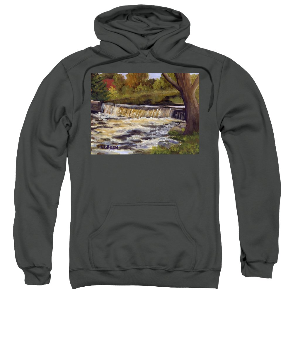 Water Sweatshirt featuring the painting Spring Flow by Sharon E Allen